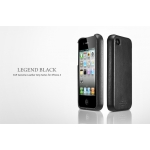 SGP iPhone 4, 4S Leather Case Genuine Leather Grip Series [Legend Black] (SGP06902)